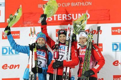 Российская биатлонистка получила серебро на этапе Кубка мира