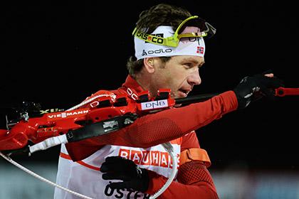 Бьорндален попал в призеры на этапе Кубка мира