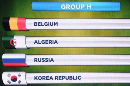 Россия сыграет на ЧМ-2014 с Бельгией, Алжиром и Южной Кореей