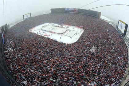 В США состоялся рекордный по посещаемости хоккейный матч