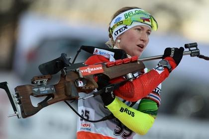 Белорусская биатлонистка заняла первое место на этапе Кубка мира