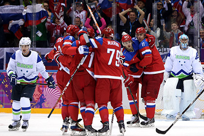 Сборная России по хоккею забросила словенцам пять шайб