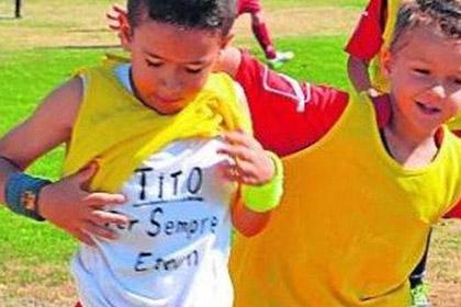 Восьмилетний мальчик посвятил гол умершему тренеру «Барселоны»