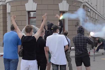 Здание Российского футбольного союза забросали презервативами