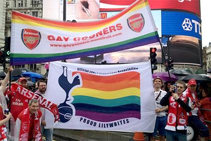 Болельщики «Арсенала» и «Тоттенхэма» вместе поучаствовали в гей-параде