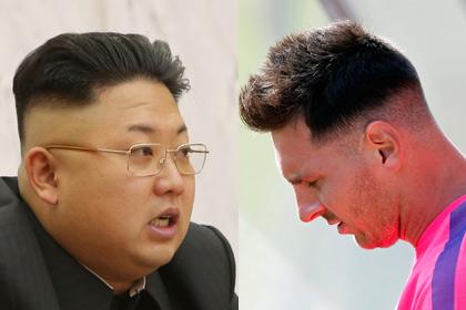 Новую прическу Месси сравнили со стрижкой Ким Чен Ына