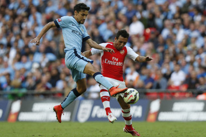 Арбитр брызнул из баллончика в лицо футболиста «Арсенала»