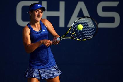 15-летняя теннисистка вышла во второй круг US Open