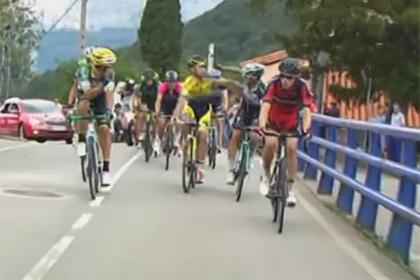 Российский и итальянский велогонщики подрались на этапе «Вуэльты»