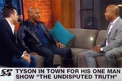 Тайсон обматерил телеведущего в прямом эфире