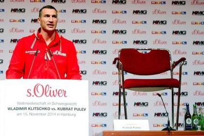 Кличко провел пресс-конференцию со стулом