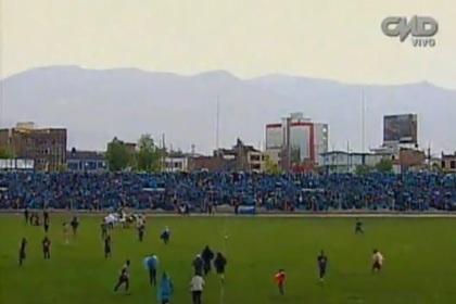 В Перу футболиста ударило молнией во время матча