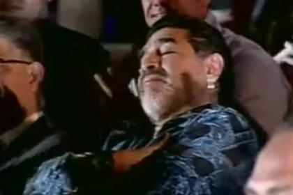 Марадона заснул во время речи Мадуро
