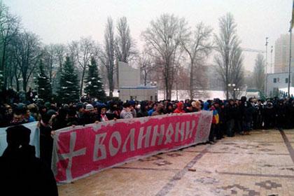 Болельщики устроили беспорядки возле здания ФФУ в Киеве