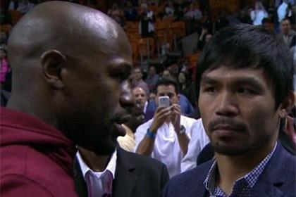 Мейуэзер случайно встретился с Пакьяо на матче НБА