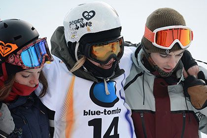 Российскую сноубордистку госпитализировали после падения