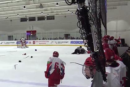 Матч открытого чемпионата Москвы по хоккею завершился массовой дракой