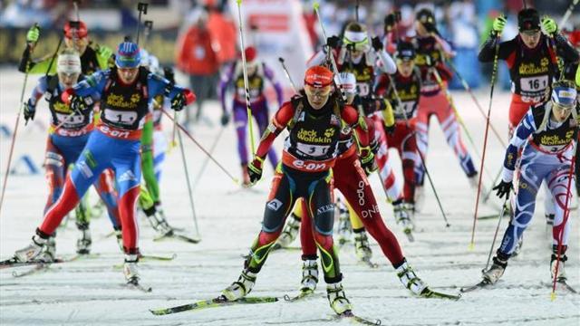 Букмекеры предрекли российским биатлонисткам третье место в эстафете на ЧМ