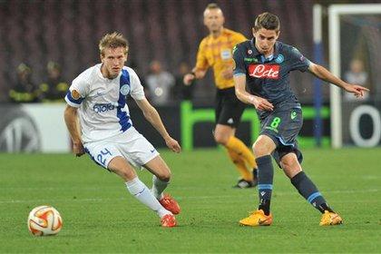 «Днепр» сыграл вничью с «Наполи» в первом полуфинале Лиги Европы