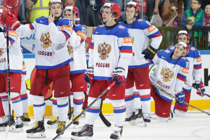 Сборную России оштрафуют за уход хоккеистов перед канадским гимном