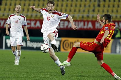 Перед матчем отбора ЧЕ в Белоруссии гимн Македонии включили с шестой попытки