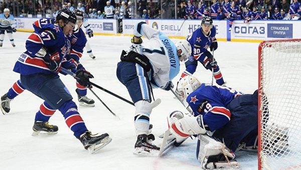 СКА дома обыграл «Сибирь» в матче чемпионата КХЛ