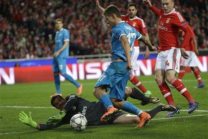 «Зенит» проиграл «Бенфике» в первом матче 1/8 финала Лиги чемпионов