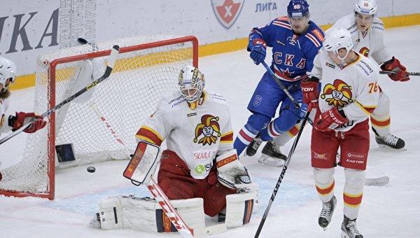 СКА одержал волевую победу над «Йокеритом» в матче КХЛ