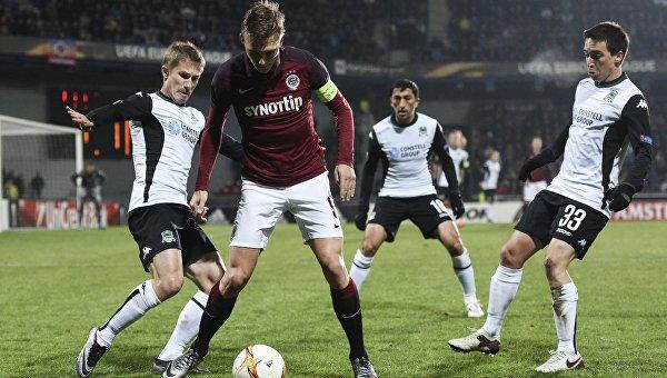 «Краснодар» уступил пражской «Спарте» в первом матче 1/16 финала ЛЕ