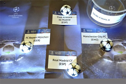 Определились полуфинальные пары Лиги чемпионов