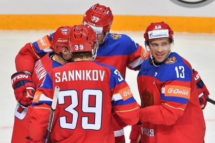 Сборная России забросила 10 шайб в ворота Дании на чемпионате мира по хоккею