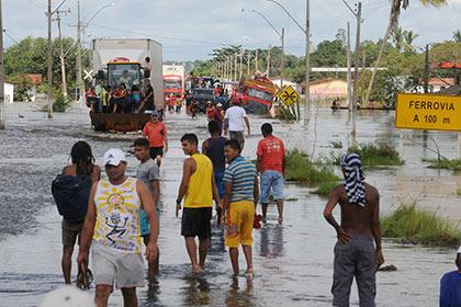 Этап эстафеты олимпийского огня в Бразилии отменен из-за наводнения