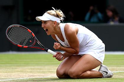 Елена Веснина впервые вышла в полуфинал Уимблдона в одиночном разряде