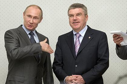 В Кремле исключили возможность встречи Путина с главой МОК