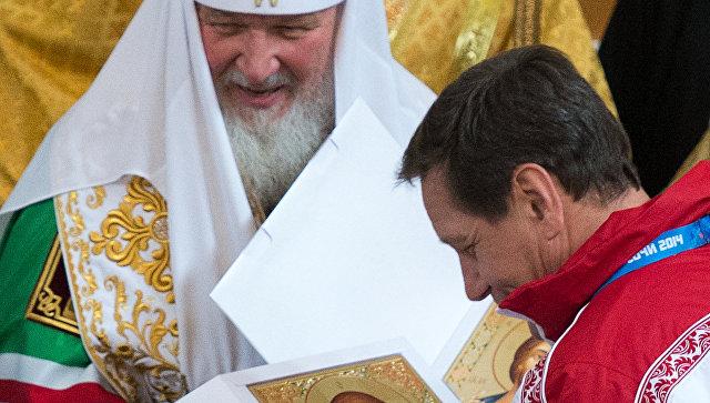 Патриарх в среду совершит для российских олимпийцев напутственный молебен