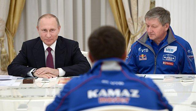 Путин поздравил «КАМАЗ-Мастер» с победой в гонке «Шелковый путь-2016»
