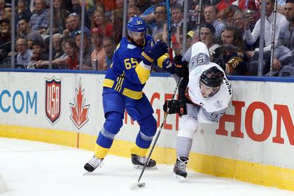 Молодежная сборная Северной Америки обыграла Швецию на Кубке мира по хоккею