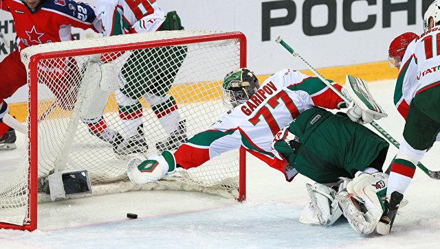 Хоккеисты ЦСКА одержали победу над «Ак Барсом» в матче чемпионата КХЛ
