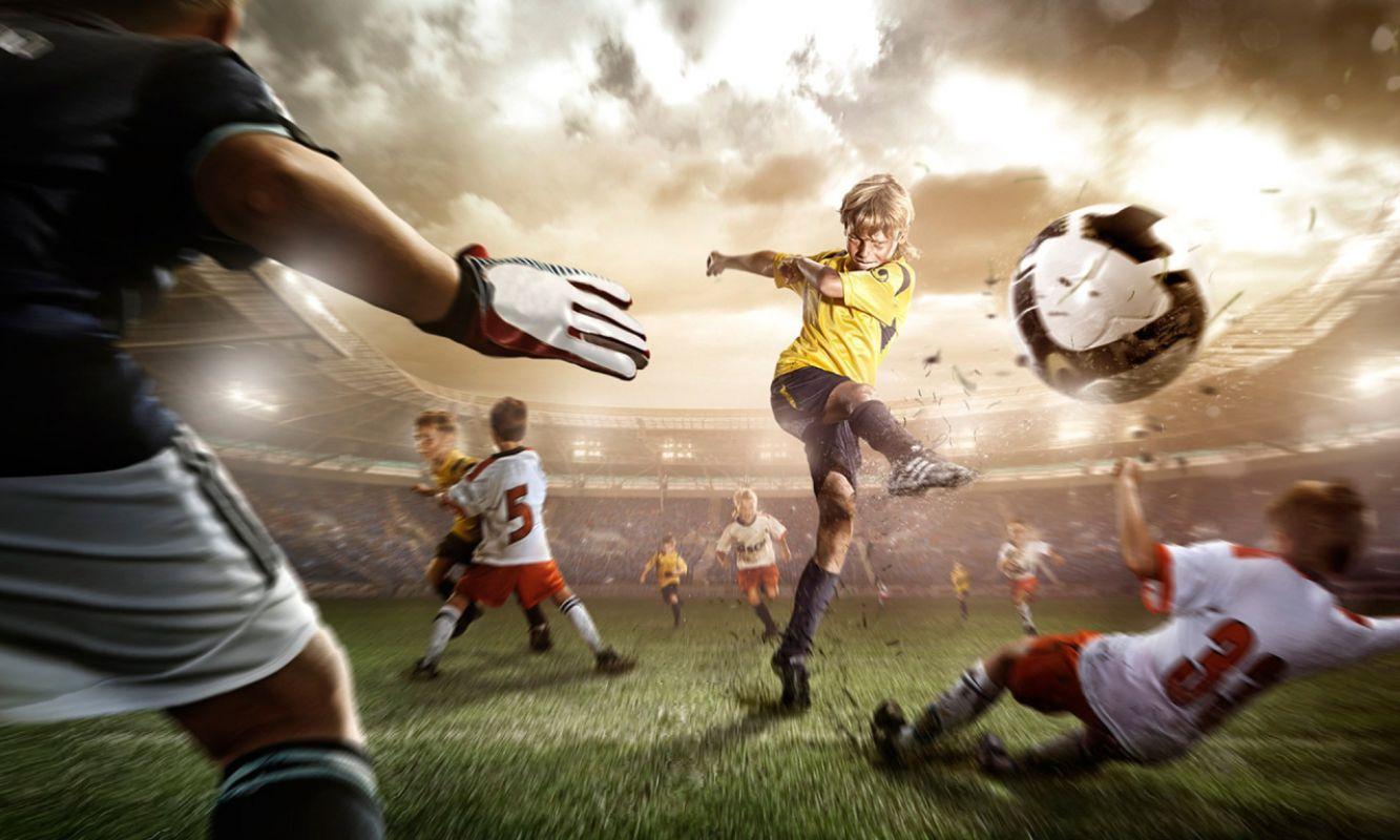Различные виды ударов в футболе