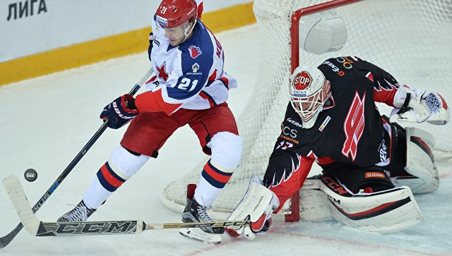 Хоккеисты ЦСКА обыграли «Авангард» в матче регулярного чемпионата КХЛ