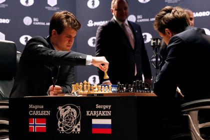 Карякин и Карлсен сыграли вничью в заключительной партии финала чемпионата мира