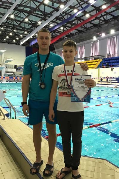 Рома из Смоленска завоевал два серебра в соревнованиях по подводному спорту