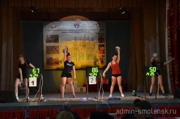 В Красном соревновались смоленские, брянские и витебские гиревики