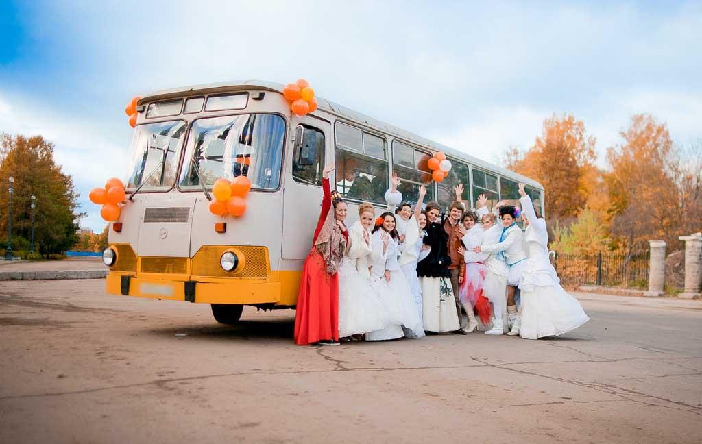 Заказываем автобус на свадьбу