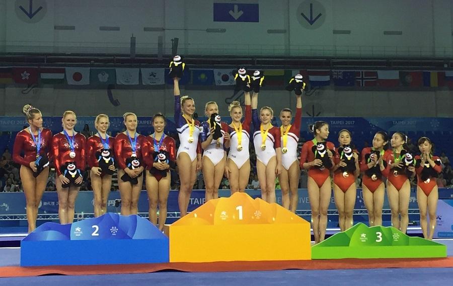 Смоленские гимнастки взяли командное золото на Универсиаде в Тайбэе
