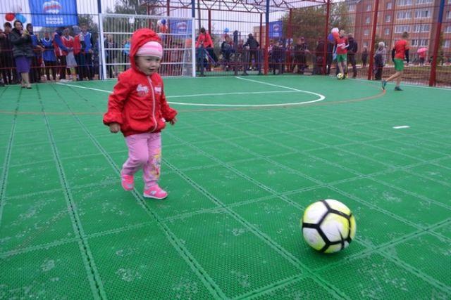 В Вязьме открыли новую спортивную площадку