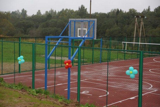 Новая спортплощадка открылась в школе Починковского района
