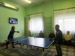 Соревнования по настольному теннису в «Дрюцком психоневрологическом интернате»