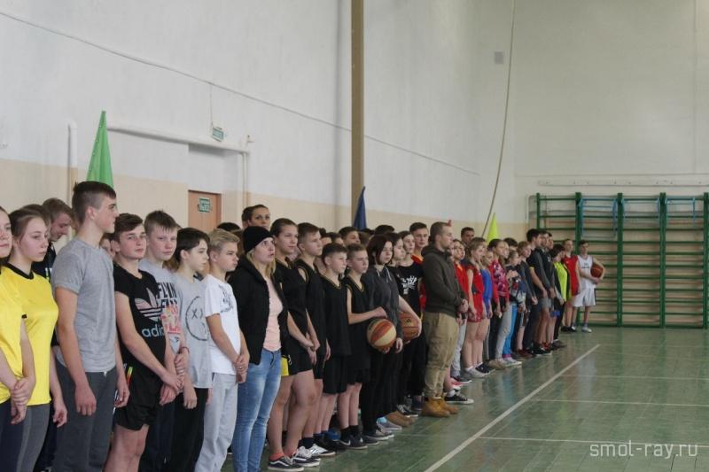 В Каспле открылся муниципальный этап школьного баскетбольного чемпионата Смоленской области