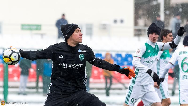 Вратарь из Смоленска дебютировал за грозненский «Ахмат»